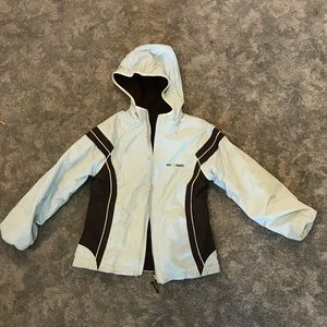 Stained! girls waterproof winter rain coat